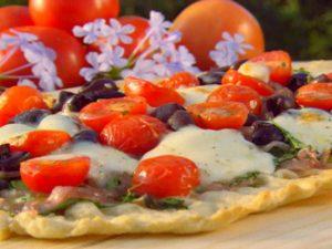 pizza veggie grill